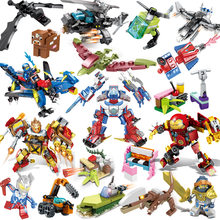 many style 10 in 1 diy puzzle building blocks Mini City Educational Toys for Children City Construction Toys(China)