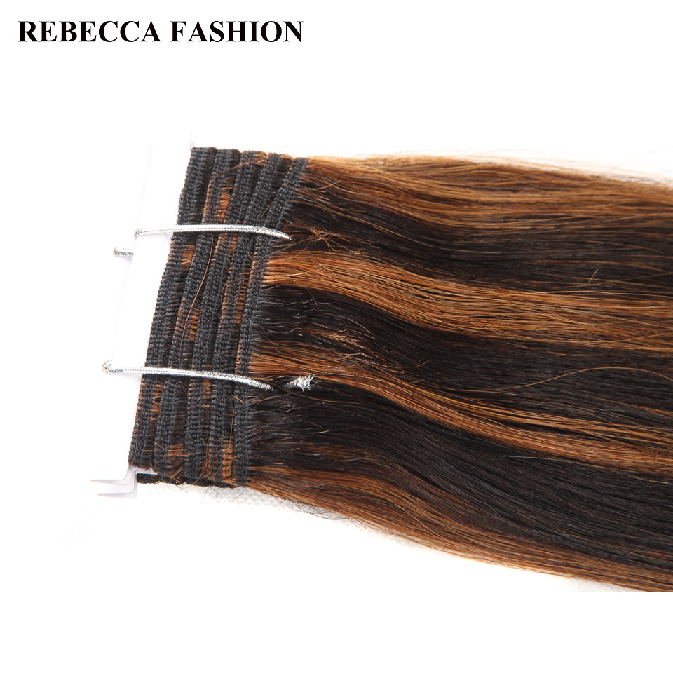 Rebecca Double Drawn Hair 113g   Silky Straight  Hair Piano Brown 613 Blonde Colors  Bundles 1pc 6