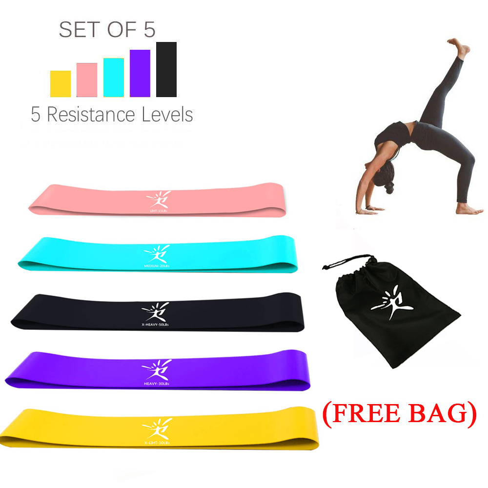 Gum for fitness rubber Resistance bands loop pull ring gym Stretched equipments Workout CrossFit Bands gum