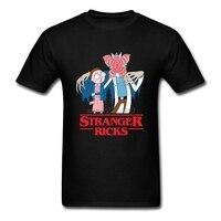 T Shirt Mens Stranger Ricks Teenage O Neck Short Sleeve Tees Shirt Latest Homme Rick And