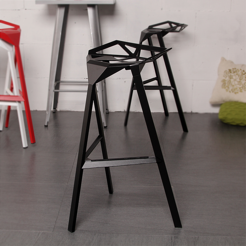 minimalist modern design popular aluminum metal bar stool side stool bar chair cafe loft bar furniture