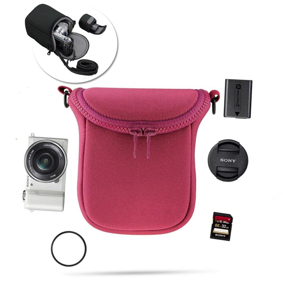Cámara impermeable bolsa suave para Sony A5100 A5000 A6000 A6300 H400 H300 HX90 HX60 HX50 RX100 V RX100M4 NEX3 NEX3N NEX5 NEX6