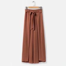 hosszú nadrág női meleg eladó laza kockás széles láb nadrág csipke felhajlított húzózsinór ászok fekete alkalmi 2018 nyári nadrág női