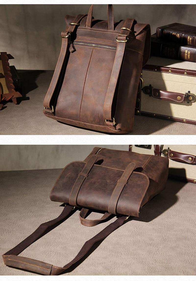 cavalo louco, mochila masculina de couro artesanal