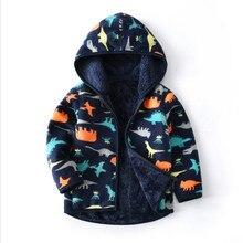 Пальто и куртка для маленьких мальчиков; Верхняя одежда для детей; зимние пальто с капюшоном; зимняя куртка с динозаврами; Детское пальто; детская теплая одежда для девочек