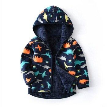 Baby Boys Coat Jacket Children Outerwear winter Hooded coats Winter Jacket Dinosaurs Kids Coat children s