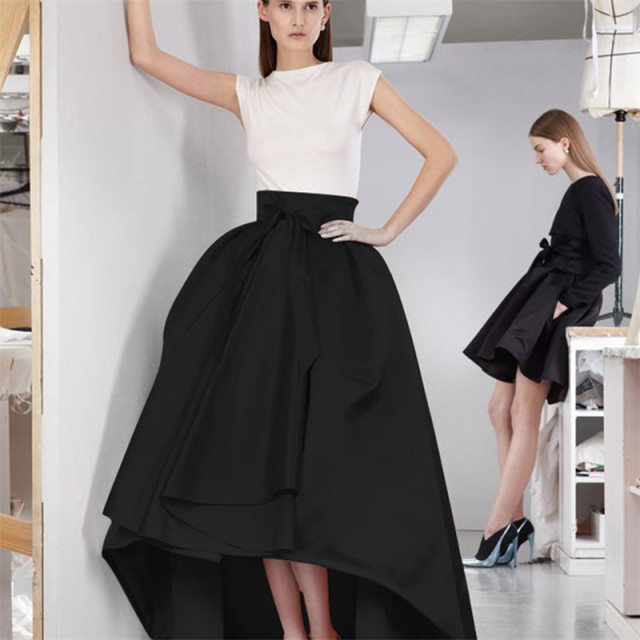 d1aaae4b7739 Jupe Longue Party Evening Prom Skirt 7XL Plus Size Vintage Asymmetrical  Long Skirt Laides Retro High Waist Maxi Dovetail Skirts