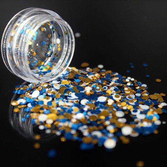 1 коробка блестящие круглые ультратонкие блестки Красочные Блестки для дизайна ногтей УФ гель 3D декоративный Маникюр DIY аксессуары NR234 - Цвет: 4