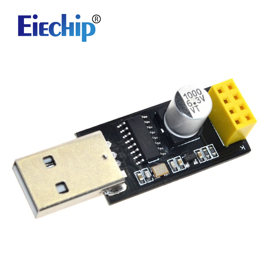 ESP01 Programmer <font><b>Adapter</b></font> UART CH340 USB to <font><b>ESP8266</b></font> ESP-01 Wifi Wireless Module Communication Microcontroller Developent <font><b>Board</b></font> image