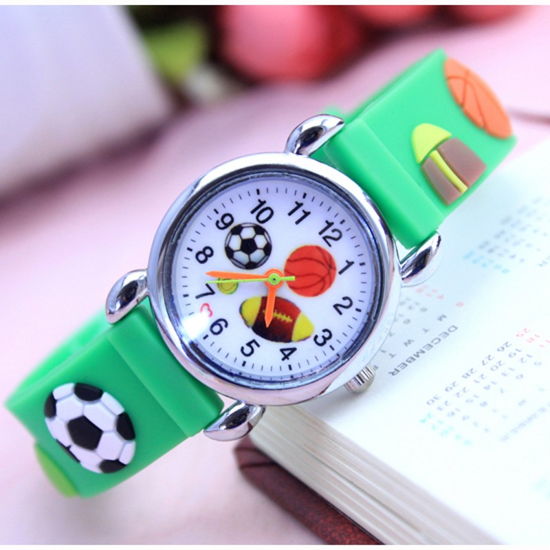Dropshipping 3D Cartoon Football Fashion Watches Children Kids Watch Boys Gift Watch Casual Quartz Wristwatch Relogio Relojes