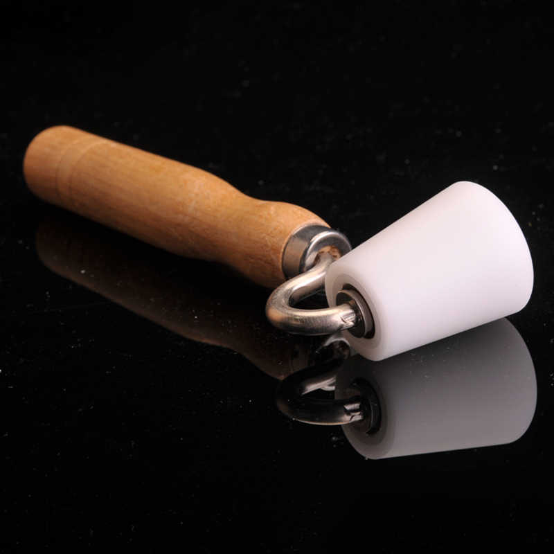 Wallpaper Seam Pressure Roller With Bearing Hand Pressure Roller DIY Tool Joint Roller Working Area With Wood Handle