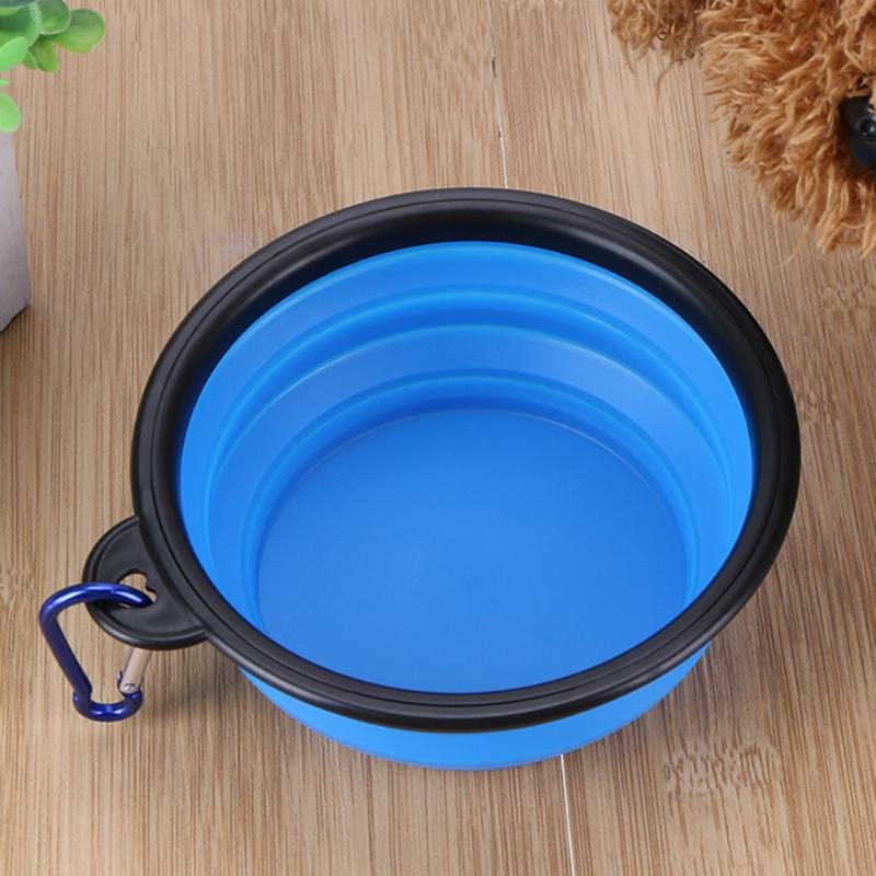 Bowls For Dog Folding Collapsible Feeding Bowl Silicone Water Dish Cat Portable Feeder Puppy Pet Travel Bowls #4