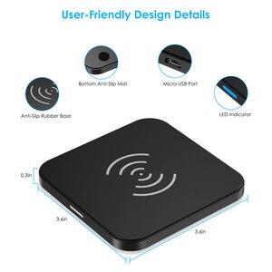 Image 3 - CHOETECH chargeur sans fil anti dérapant en caoutchouc 5W Qi chargeur de charge avec câble Micro USB pour Samsung S8 Note 8 pour iPhone X 8