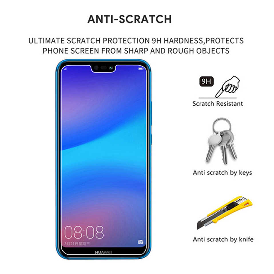 2 Pcs Tempered Glass Di untuk Huawei P30 Lite P Smart 2019 Honor 8 9 10 V10 Pelindung Pelindung Layar untuk Huawei Nova 2i 3 3i 3E