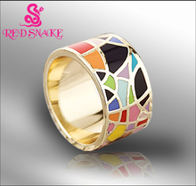 RED SNAKE Brand Product Hot Selling Width Rose Gold-color Enamel Jewelry Rings,and Scarf Ring, Hurry! Free Post Shipping