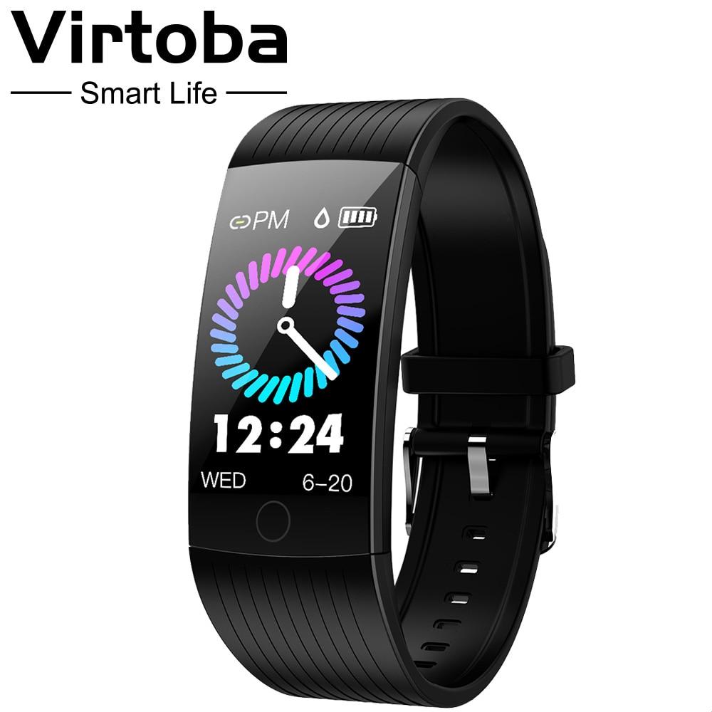 Virtoba I8S 1.14 スマートバンド男性女性の Bluetooth フィットネストラッカーブレスレット血圧色 UI  ため AndroidIOS -    グループ上の 家電製品 からの スマート リストバンド の中