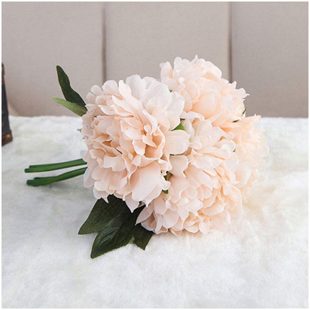 Popular fake pink peonies buy cheap fake pink peonies lots from artificial fake peony silk flower bridal hydrangea home wedding garden decor light pinkchina dhlflorist Images