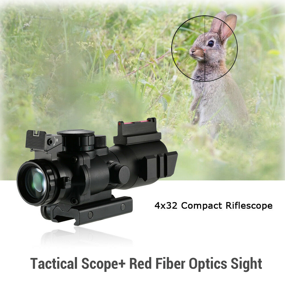 Image 3 - BOBLOV 4x32 Acog Riflescope 20mm Dovetail Reflex Optics Scope Tactical Sight For Hunting-in Riflescopes from Sports & Entertainment