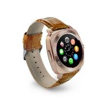 Deporte bluetooth smart watch retro reloj con dial sms recuerdan podómetro apoyo cámara de la tarjeta sim para android ios teléfono