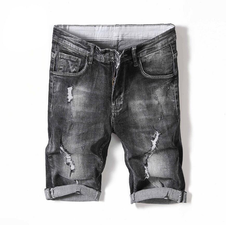summer men casual blue 13 kinds half jeans male teenager lightweight straight plaid midwaist jeans