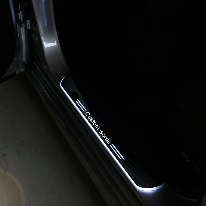 2х круто!!! Светодиодные акриловые порога полосы Добро пожаловать педали накладка поперечины автомобильные аксессуары для Кадиллак xts 2013-2014