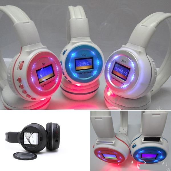 International Free Shipping, Hot Sale Multi Function Stereo Headband Earpieces, Wireless SD Read FM Sports Headphone Headsets