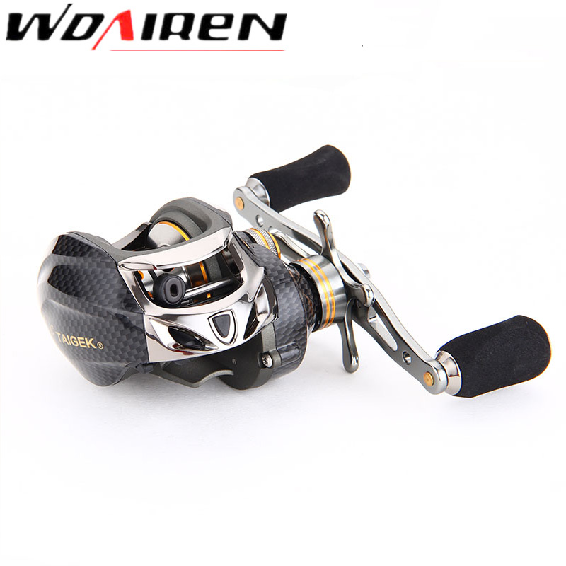 Carbon Baitcasting Reel 17+1 BB Super Light Casting Reel Centrifugal and Magnetic Brake System Bass Fishing Carp Fishing TG-001 trolling reel 9 1bb drum wheel carp baitcasting reels centrifugal brake casting saltwater fishing reel super power drag 30kg