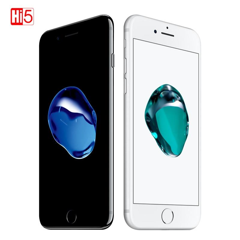 Разблокированный телефон Apple iPhone 7, IOS 11, LTE, Wi-Fi, дисплей 4,7 дюйма, камера 12 МП, четырёхъядерный смартфон с распознаванием отпечатков пальцев, ...
