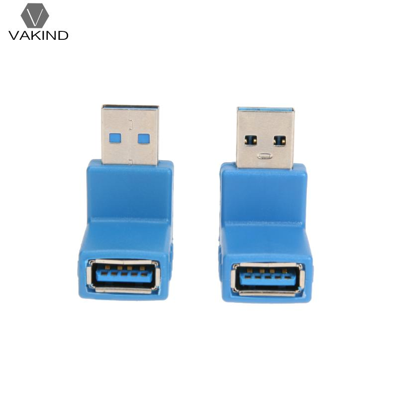 USB 3.0 Male to Female Adapter L Shape 90 Degree Right Angle Super Speed Data Transmit Charging Connector Converter vakind black right angle 90 degree l shape adapter micro usb female to micro usb male adapter charging cable connector adapter