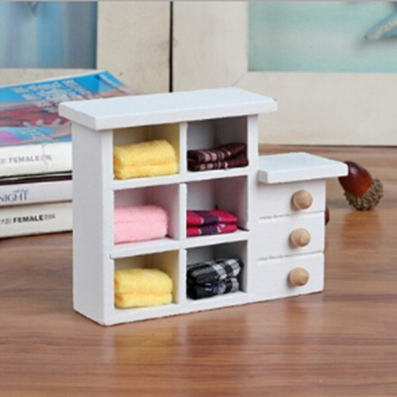 1:12 Dollhouse Miniature Kitchen Wood Wall Rack Shelf White Room Decor Hot Sale