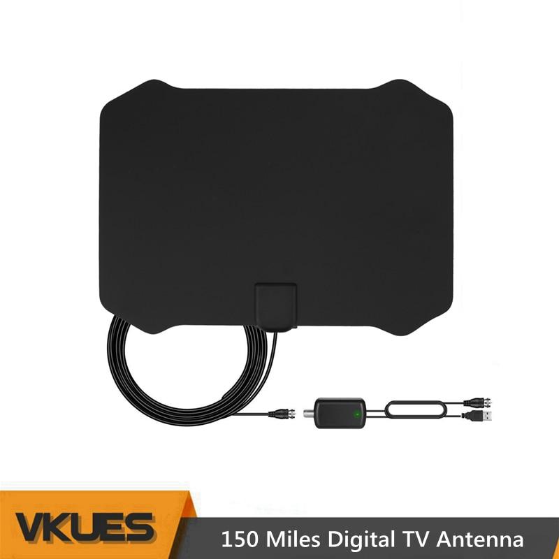 все цены на 100~150 Miles Indoor DTV Digital TV Antenna HDTV Antena with Signal Amplifier VHF UHF DVB-T/T2 Antennas Free TV Cable Antenas онлайн