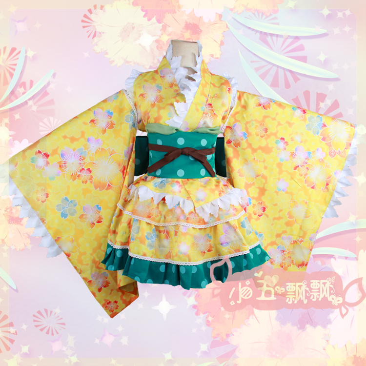 Nozomi Tojo Sonoda Umi Minami Kotori Cosplay Costume Kimono Dress New Love Live
