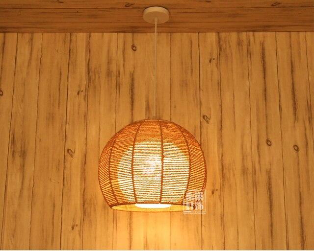 Bamboo Rattan Pendant Lights Anese Retro Round Garden Balcony Lamp Shade Bedroom Study Restaurant Lamps Zb30