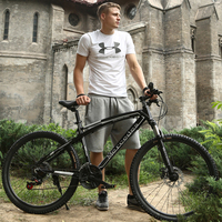 26 Inch 24 Speed Mountain Bike Aluminum Alloy Two Disc Brakes Oil Disc Brakes Skateboarding Men