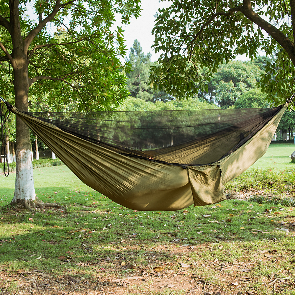 Ultra-léger Bug Net Hamac Tente Moustique Cour Extérieure Randonnée Randonnée Voyage Camping Double Hamac Rede Hamaca Hangmat