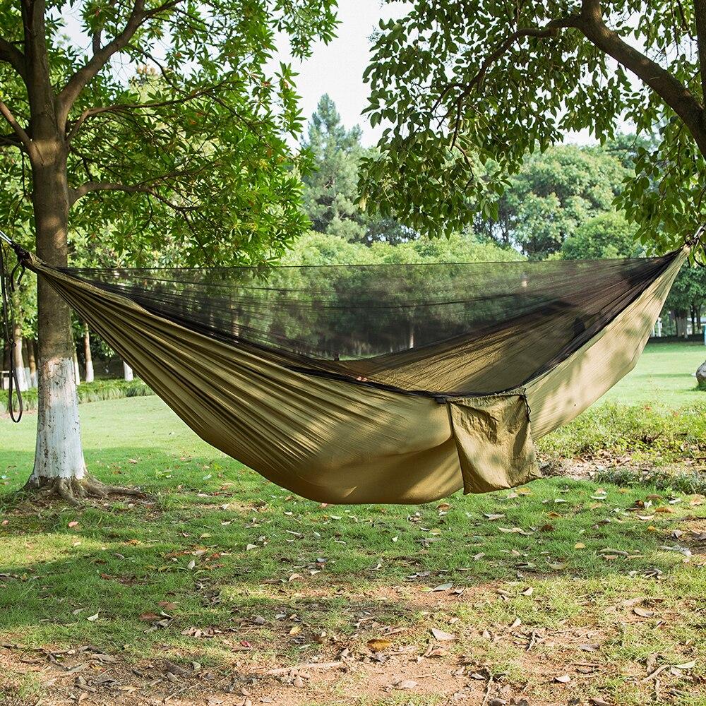 Ultralight Bug Netto Amaca Tenda di Zanzara All'aperto Cortile Escursionismo Zaino In Spalla di Campeggio di Viaggio Doppio Hamac Rede Hamaca Hangmat