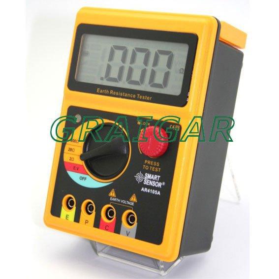 Smart Sensor AR4105A Portable Digital Earth Resistance Meter earth resistance tester se ar4105a se ar910a