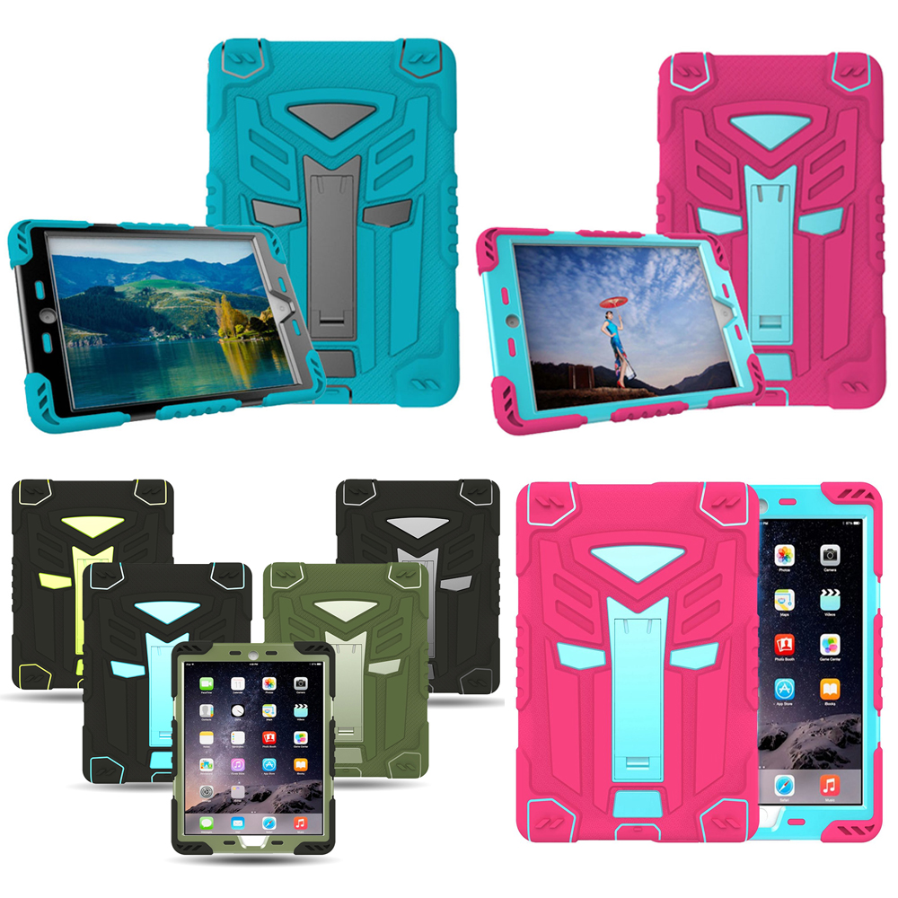 Carry360 Case For Apple ipad 2 3 4 Kids Safe Armor Shockproof Heavy Duty Silicon+PC Stand Back Case Cover For iPad2 iPad3 iPad4