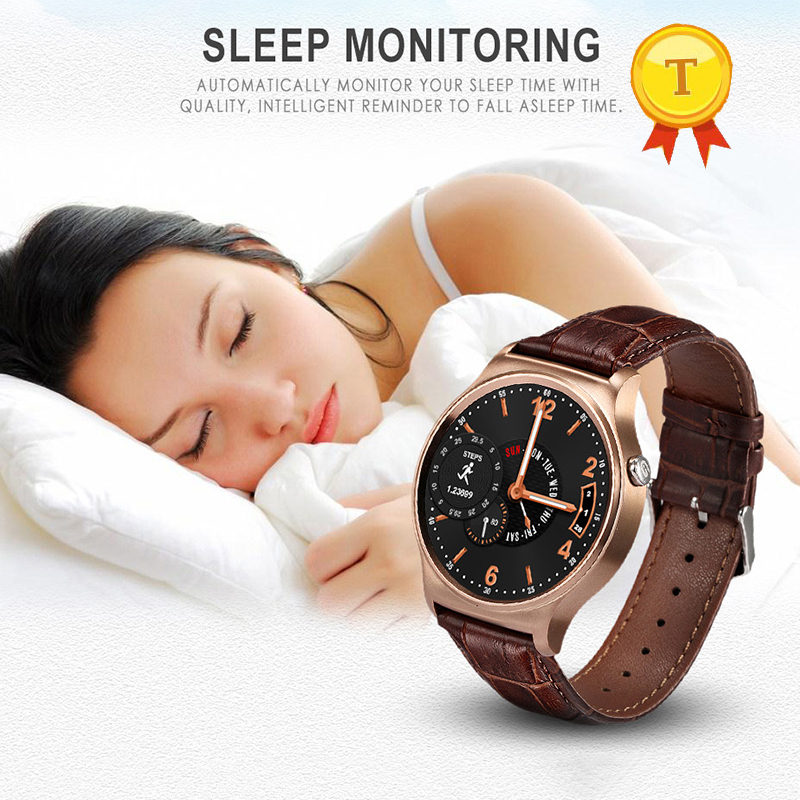 round Smart Watch with Sleep Monitor Sedentary Pedometer Message Sync Call Heart Rate Remote Control phone watch for ios android-in Smart Watches from Consumer Electronics    1