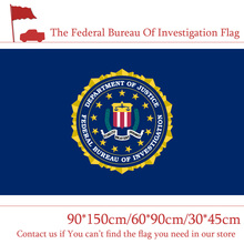 Freeshipping 90*150cm 60*90cm The Federal Bureau Of Investigation Flag 3*5ft Hanging 30*45cm Car For Office Decoration