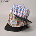 Píos de moda gorras de béisbol del snapback sombrero de ala plana calle danza regalo Hip Hop Sombreros para Hombres y Mujeres 2016 Nueva sorber libre