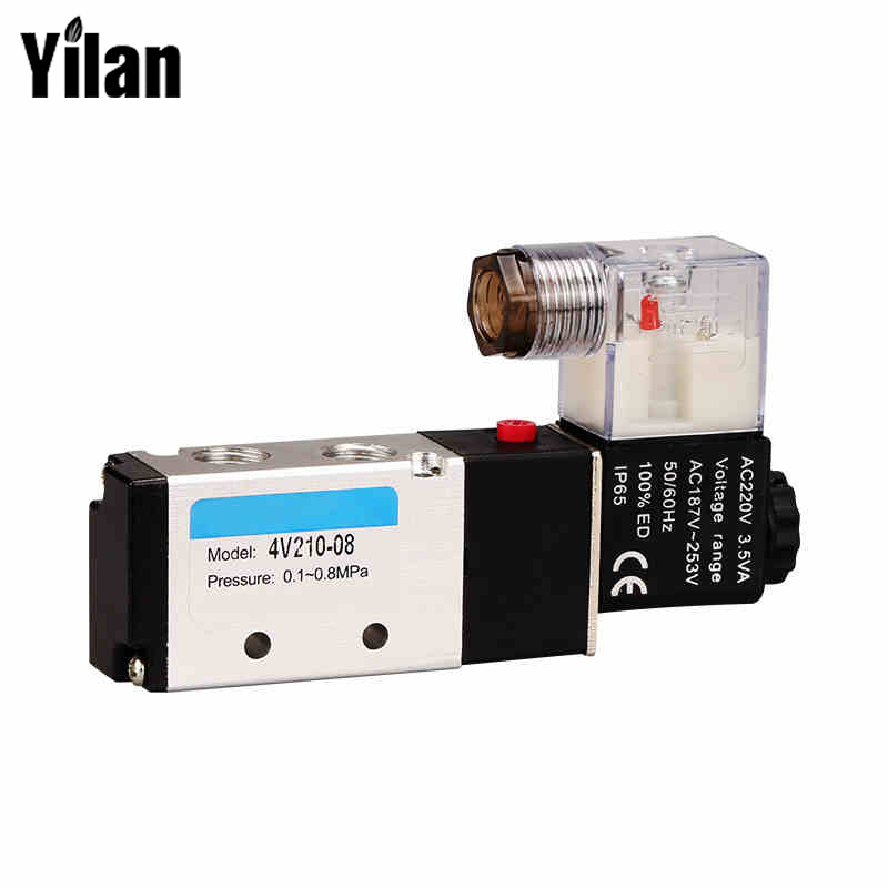 DHL/e-EMS Free Shipping 10 Pcs Airtac 4V210-08 Superior Solenoid Valve AC 220V,5 Way 2 Position Air Control Solenoid Valve dhl ems 5 pcs e32 d32 e32 d32 new for om ron photoelectric switch fiber unit free shipping d1