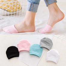 Socks Soft Short Boat Ankle Half-Palm Happy Funny Elastic Invisible Girls Solid-Color