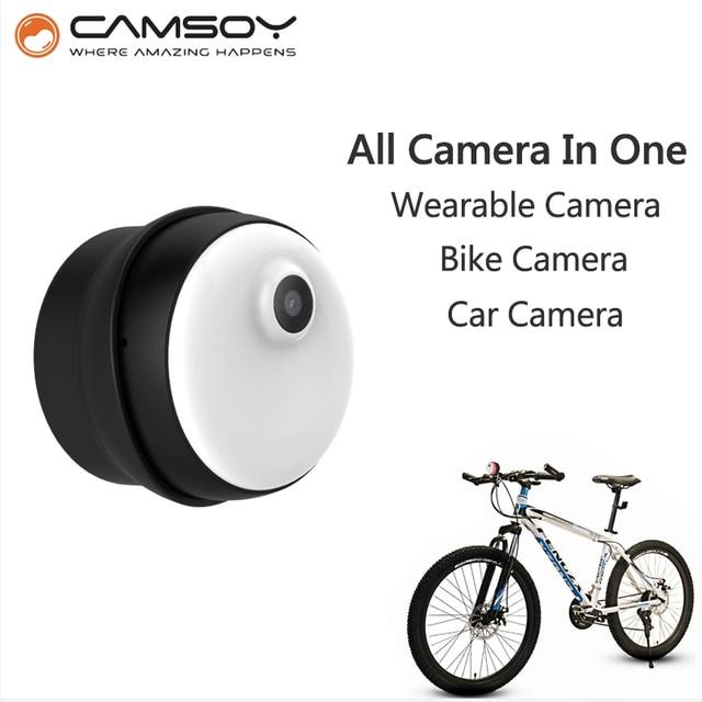 CAMSOY M1 all in 1 Multipurpose Body camera bike micro camera mini camera HD 720P camera Magnetic Clip mini dv