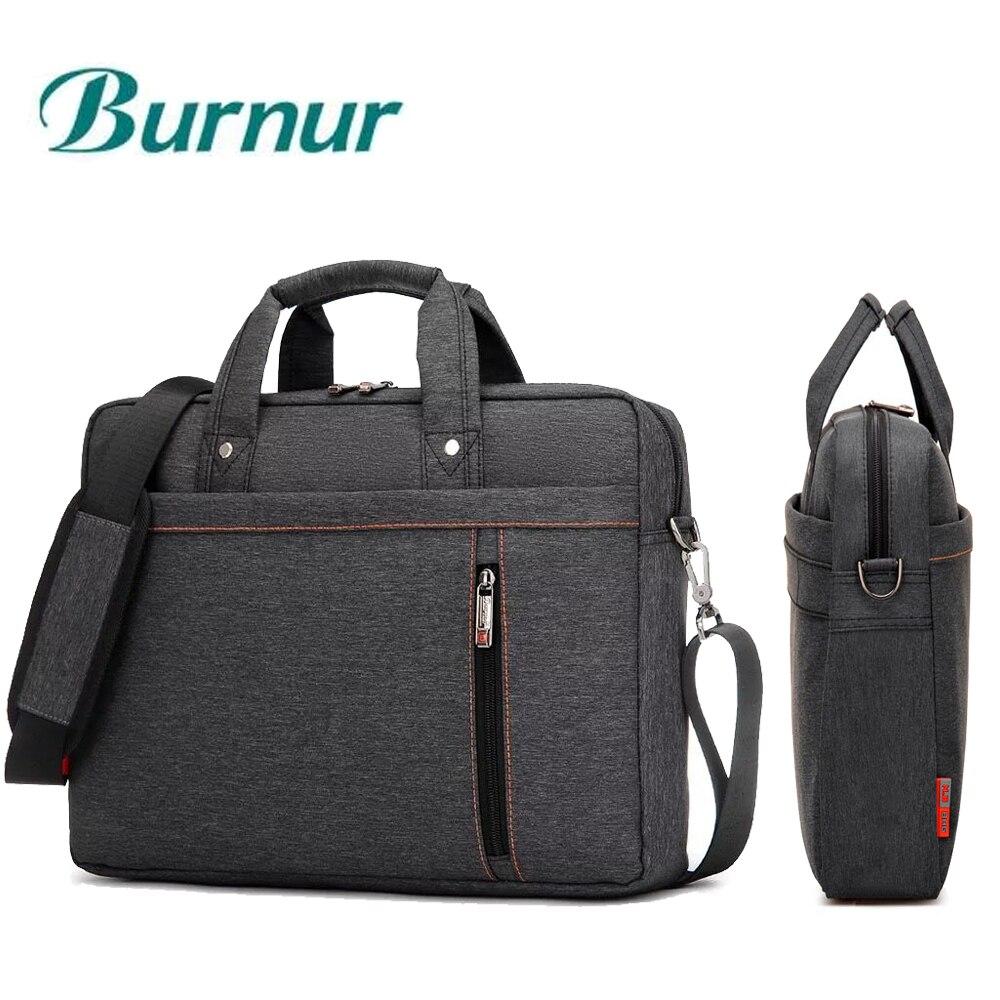 12 13 14 15 15.6 17 17.3 Inch Waterproof Laptop Bag Nylon Notebook Tablet Handbag Shoulder Portable Messenger Bag Men Women