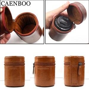 Image 4 - CAENBOO – sac à lentilles rétro dur en cuir PU, étui pour Canon, Nikon, Sony, Pentax, Fujifilm, Tamron, Sigma, pochette de protection universelle