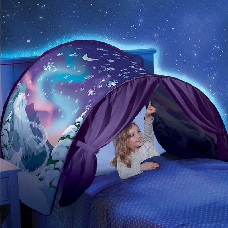 Outdoor Dream Tents Winter Wonderland space dinosaur Foldable Bed Tent Camping Hiking Christmas Gift without lights S083 christmas wonderland to colour