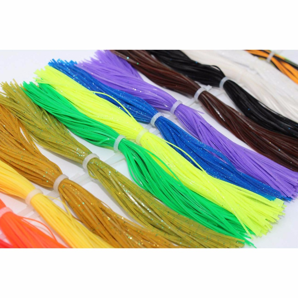 """WHOLESALE LOT OF 1000  2 /""""  Tube Jig Skirts ** BLUE /& PEARL **"""