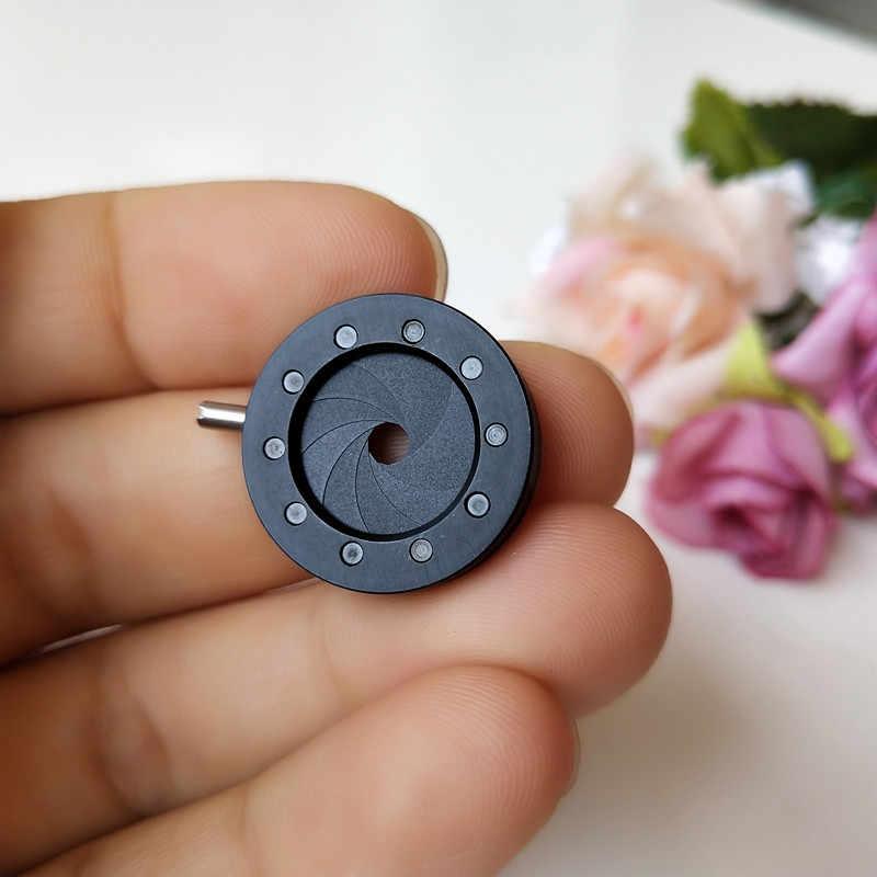 Condenseur d'ouverture de diaphragme d'iris optique de bourdonnement en métal de diamètre d'amplification Durable de 1-12mm pour l'adaptateur de Microscope d'appareil-photo numérique