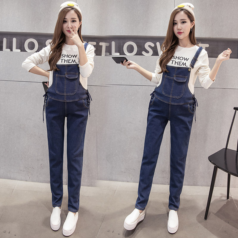 Envsoll Maternity Jeans Pants For Pregnant Women Bib Overalls Trounsers Belly Legging Pregnancy Clothing Maternity Jeans Props